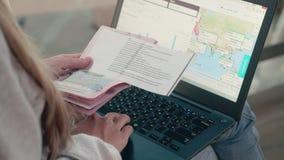 Anmeldung etikettiert online stock video