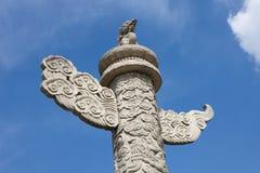 anmen dekorativa den tian pelarfyrkanten Fotografering för Bildbyråer