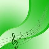 Anmerkung über grünen Hintergrund Stockfotos