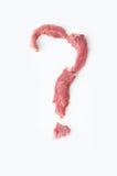 Anmerkung der Befragung des roten Rindfleisches Stockfotos