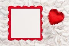Anmerkung des Valentinsgrußes Stockbild
