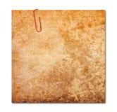 Anmerkung mit der Papierklammer lokalisiert, Beschneidungspfad Lizenzfreie Stockbilder