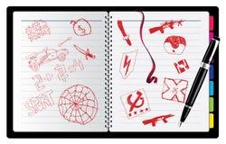 Anmerkung mit wirklich Zeichnung der Kinder Lizenzfreies Stockfoto