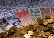 Anmerkungen der ausländischen Währungen Stockbilder