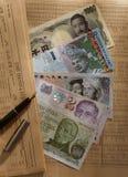 Anmerkungen der ausländischen Währungen Lizenzfreie Stockfotos