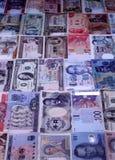 Anmerkungen der ausländischen Währungen Stockfotografie