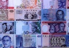 Anmerkungen der ausländischen Währungen Stockfotos