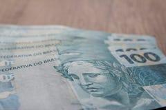 Anmerkungen der wirklichen, brasilianischen Währung Geld von Brasilien Stockbilder