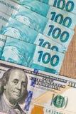 Anmerkungen der wirklichen, brasilianischen Währung Geld von Brasilien Stockbild