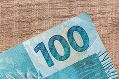 Anmerkungen der wirklichen, brasilianischen Währung Geld von Brasilien Lizenzfreie Stockfotos