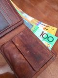 50 Anmerkungen des australischen Dollars Lizenzfreies Stockfoto