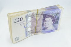Anmerkungen des Pound-£20 Stockfotografie