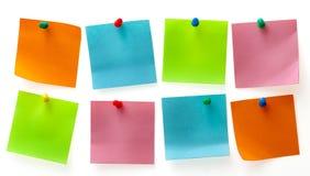 Anmerkungen eines verschiedene Farbenpost-it Stockbilder