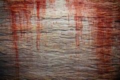 Anmerkungen und ein Baum in einem Mondschein Blutfleck auf hölzerner Beschaffenheit lizenzfreie stockfotos
