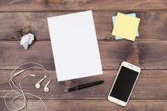 Anmerkungen und Telefon Stockfoto