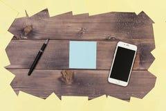 Anmerkungen und Telefon Stockbilder