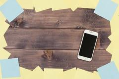 Anmerkungen und Telefon Lizenzfreie Stockfotos