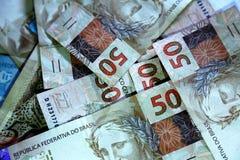 Anmerkungen 50 wirkliches Brasilien Stockfoto