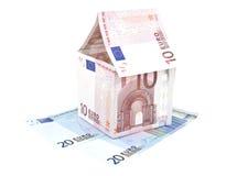 Anmerkungs-Hausaufbau des Euro 10 Lizenzfreies Stockfoto