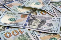 Anmerkungs-Hintergrund Vereinigter Staaten USD 100 Stockfotos