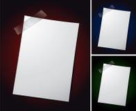 Anmerkungs-Papier auf verschiedenen Hintergründen Lizenzfreies Stockfoto
