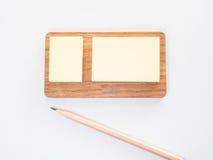 Anmerkungs-Papier mit Bleistift Lizenzfreies Stockfoto