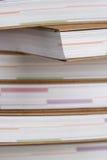 Anmerkungsbücher im Stapel - Nahaufnahme Stockbild