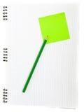 Anmerkungsbuch und -bleistift Lizenzfreie Stockfotografie