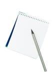 Anmerkungsbuch und -bleistift Lizenzfreie Stockbilder