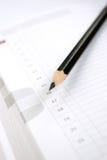 Anmerkungsbuch und -bleistift Lizenzfreies Stockfoto