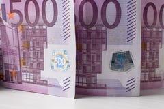 Anmerkungsgeld des Euros 500 Lizenzfreie Stockfotografie