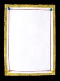 Anmerkungspapier mit Stoßstiften Stockfoto