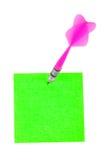 Anmerkungspapier und Pfeilpfeil Lizenzfreies Stockbild