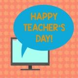 Anmerkungsvertretung glücklichen Lehrer S Is Day schreiben Präsentationsgeburt zweite des Geschäftsfotos Präsident India verwende vektor abbildung