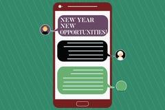 Anmerkungsvertretung neues Jahr-neue Gelegenheiten schreiben Geschäftsfoto Präsentationsneustart-Motivationsinspiration 365 Tage stock abbildung