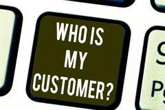 Anmerkungsvertretung schreiben, die mein Kunde ist Die Geschäftsfotopräsentation kennen Ihre Kunden, zu erhalten Informationen vo lizenzfreies stockfoto