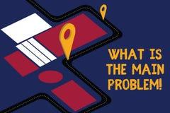 Anmerkungsvertretung schreiben, was das Hauptproblem ist Die Geschäftsfotopräsentation identifizieren die Ursache von Problemen r lizenzfreie abbildung