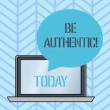 Anmerkungsvertretung schreibend, seien Sie authentisch Die Gesch?ftsfotopr?sentation tun etwas, dem Mut und das Bleiben wahr zu n lizenzfreie abbildung