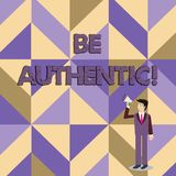 Anmerkungsvertretung schreibend, seien Sie authentisch Die Gesch?ftsfotopr?sentation tun etwas, dem Mut und das Bleiben wahr zu n vektor abbildung
