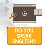 Anmerkungsvertretung schreibend, sprechen Sie Englishquestion Geschäftsfoto Präsentationsc$sprechen, unterschiedliches Sprachenta stockfotos
