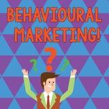 Anmerkungsvertretung Verhaltensmarketing schreiben Präsentationszielverbraucher des Geschäftsfotos basiert auf ihrem Verhalten  lizenzfreie abbildung