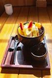 Anmitsu, un dessert freddo tradizionale del dessert di stile giapponese fotografia stock