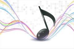 anmärkningar för musik 3d Royaltyfria Bilder
