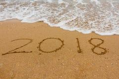 Année 2018 Photographie stock libre de droits