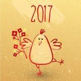 2017 année chinoise de coq nouvelle - design de carte de salutation