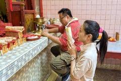 Année chinoise de la Malaisie Penang Georgetown nouvelle Photographie stock