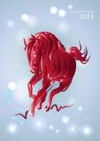 Année chinoise de lumières et d'étoiles nouvelle du cheval 2014