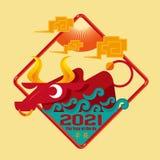 Année chinoise du boeuf 2021 Photo libre de droits