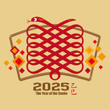 Année chinoise du serpent 2025 Photo stock