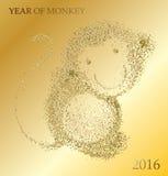 Année chinoise heureuse de 2016 singes nouvelle illustration stock